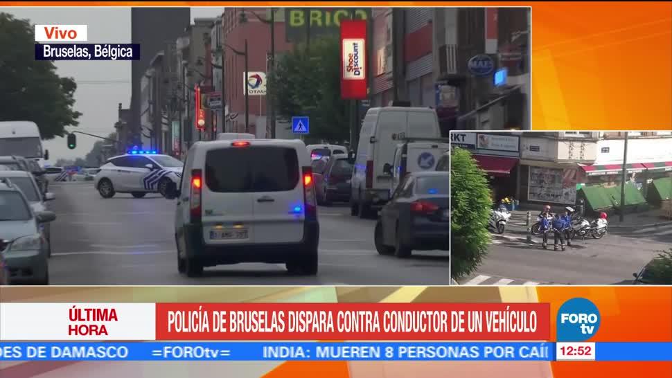 Policía, Bruselas, dispara, conductor