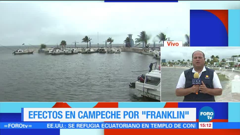 Franklin provoca lluvias en Campeche, Tabasco y Veracruz