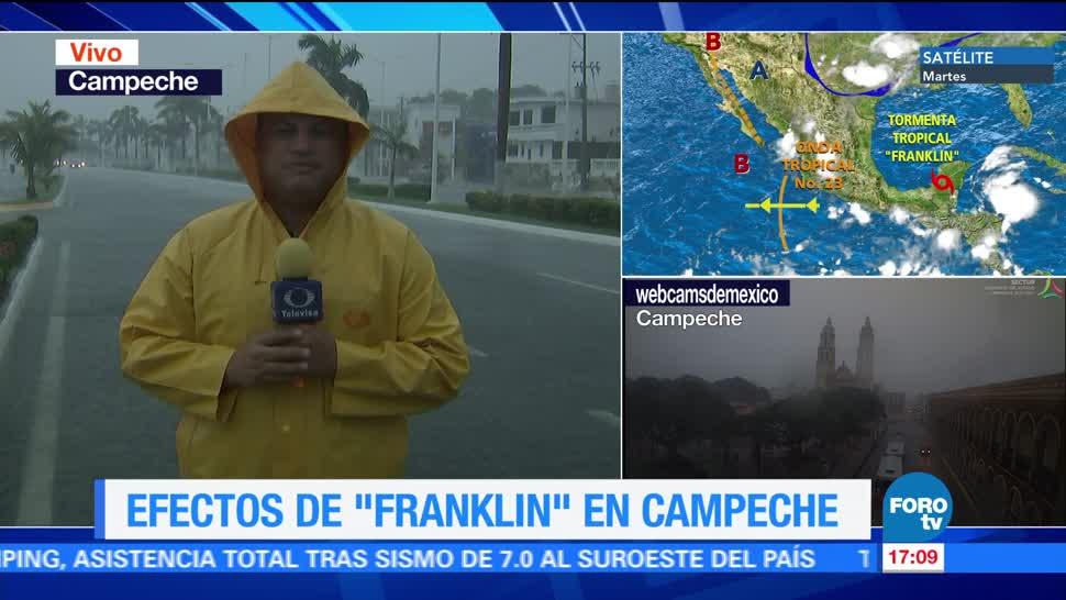 Franklin provoca intensas lluvias en Campeche