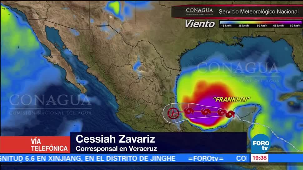 Veracruz se prepara ante el arribo de Franklin