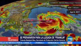 Veracruz espera lluvias intensas ante el arribo de 'Franklin'