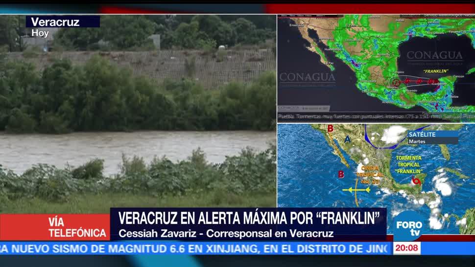 Alerta máxima Veracruz paso de Franklin