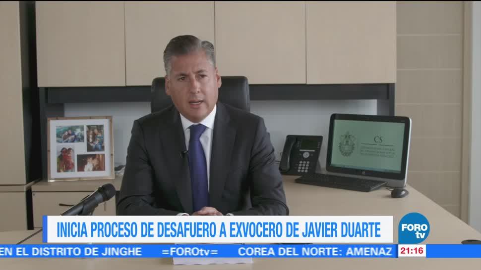 Inicia proceso desafuero exvocero Javier Duarte