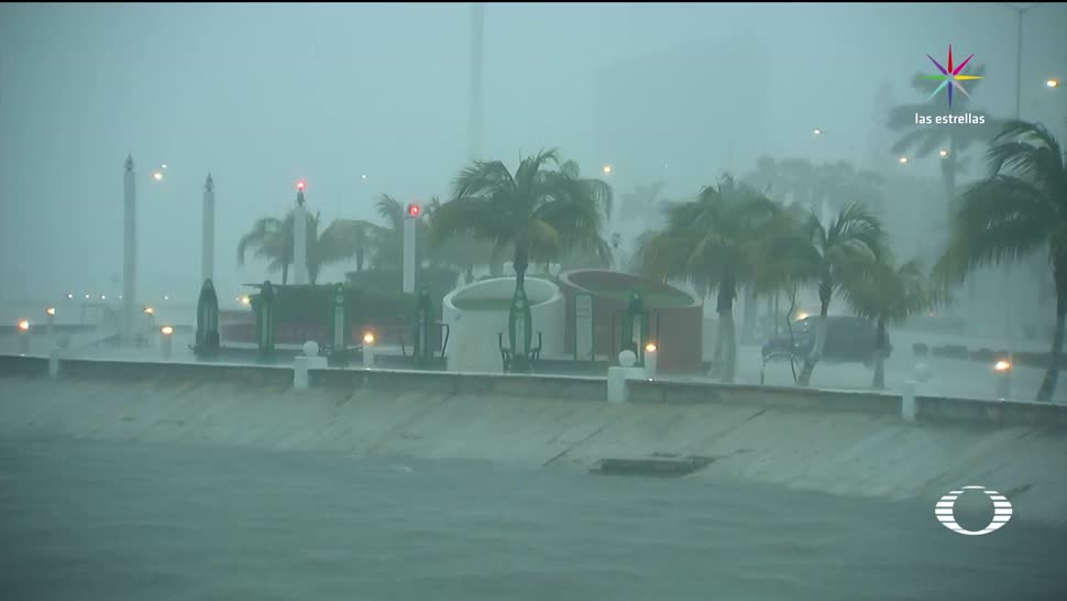 Primeros daños de Franklin en Campeche