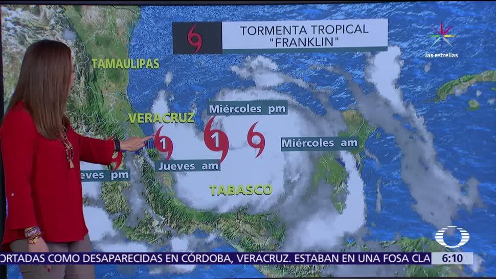 Franklin, continuarán, tormentas, México