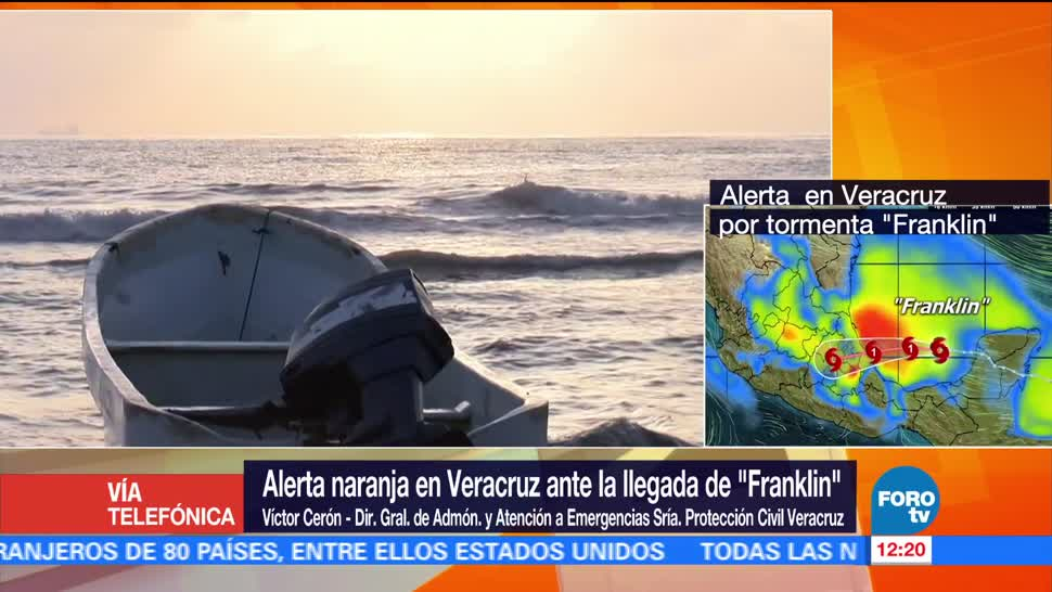 Alerta, Veracruz, llegada, Franklin