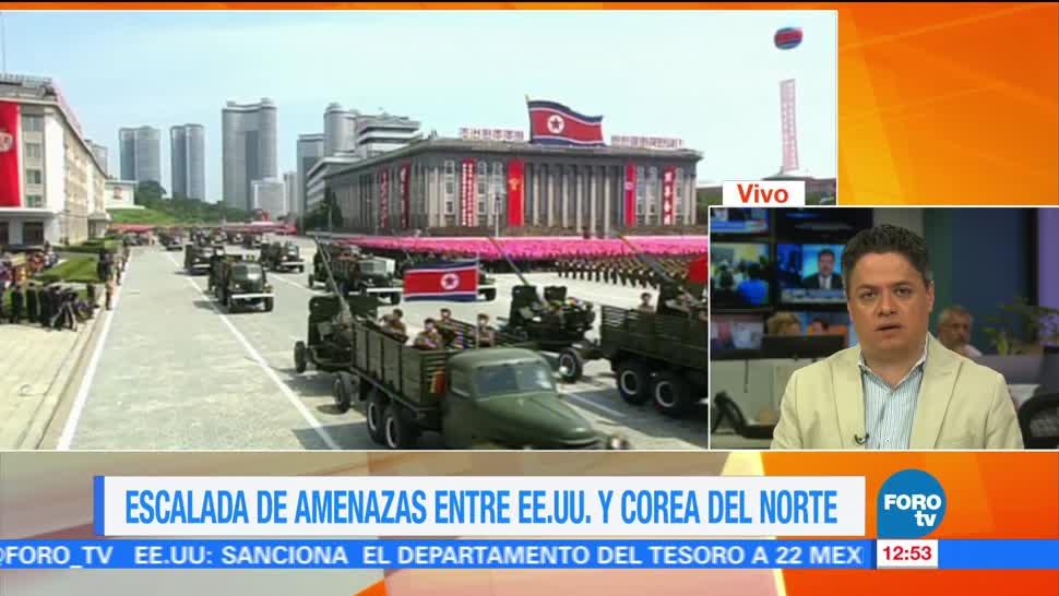 Aumenta Amenazas EU Corea del Norte