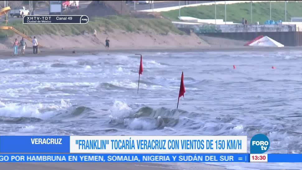 Franklin tocaría Veracruz vientos de 150