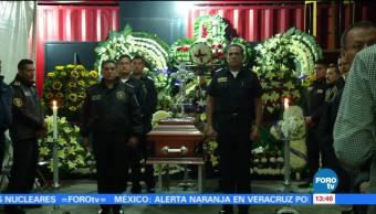 Homenajean bombero murió caer edificio CDMX