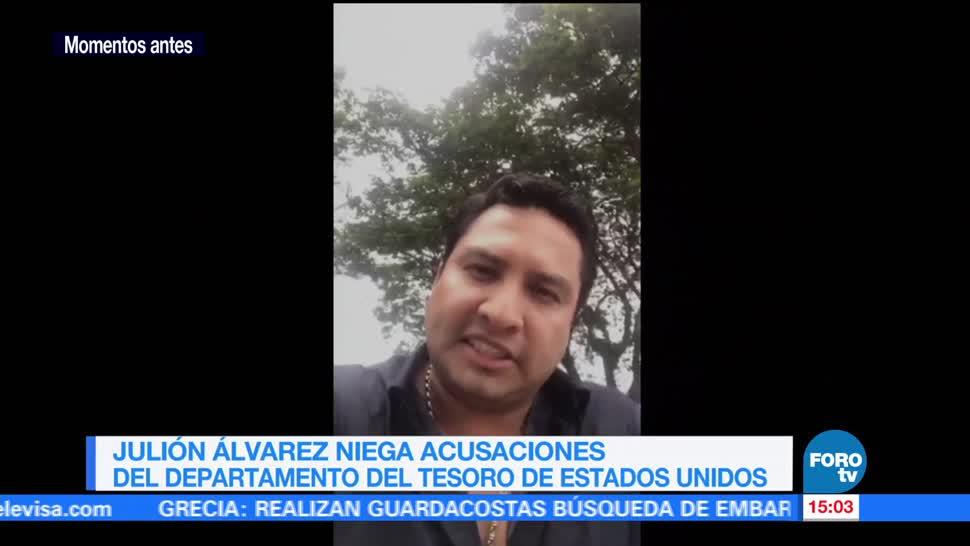 Julión Álvarez niega vínculos con narco