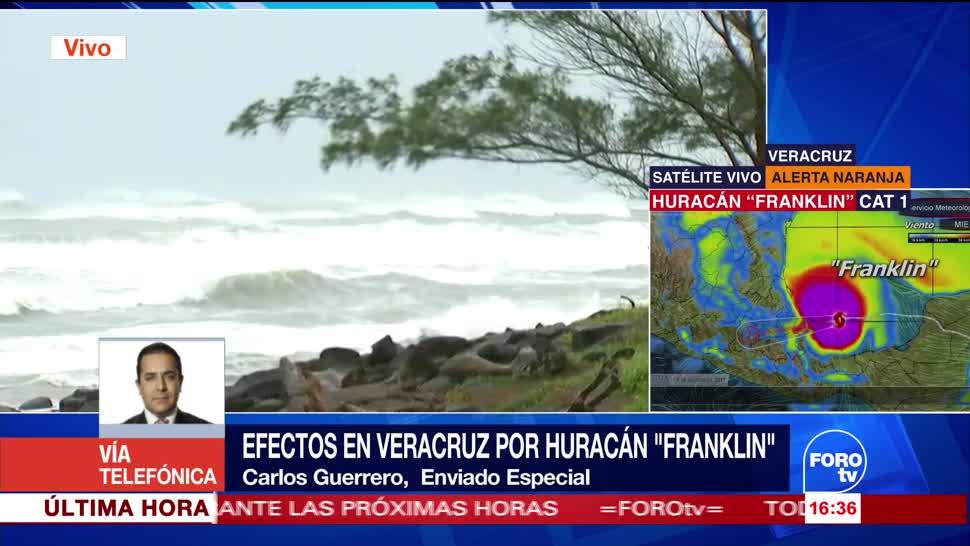 Veracruz resiente primeros efectos huracán Franklin