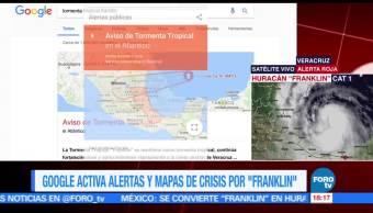Por Franklin, Google activa alertas y mapas de crisis