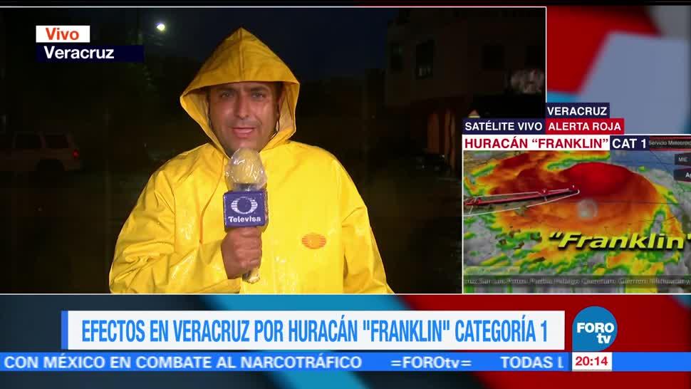 Fuertes lluvias azotan municipios en Veracruz por llegada de 'Franklin'