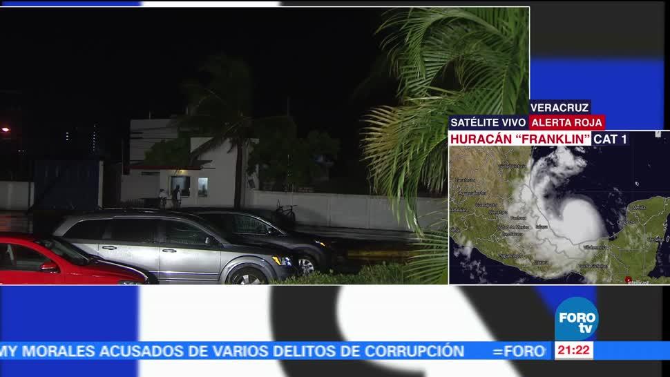 Veracruz en alerta roja ante impacto del huracán 'Franklin'