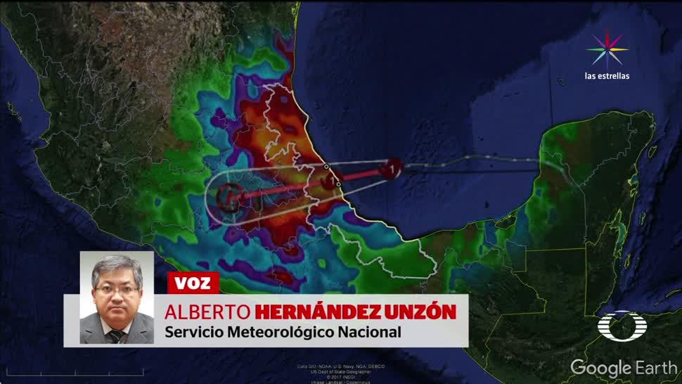Huracán Franklin golpea ya costas de Veracruz