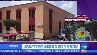 Suspenden clases en Hidalgo por Franklin