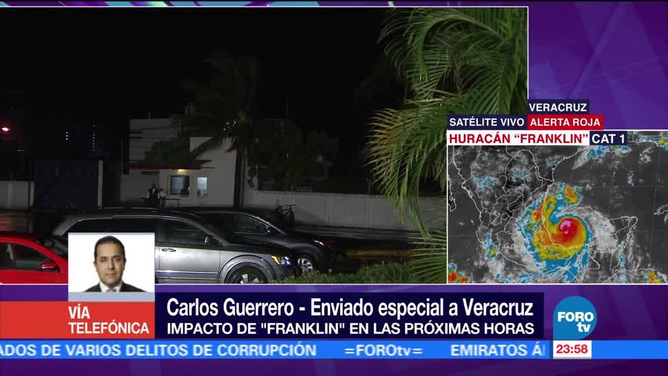 Efectos de huracán 'Franklin' generan apagón en Vega de Alatorre