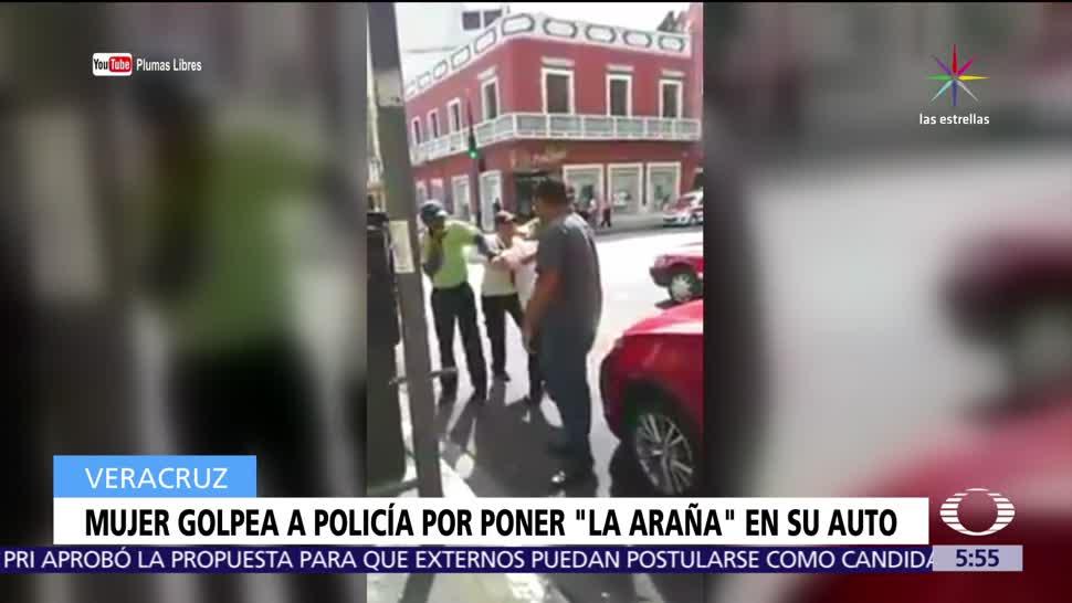 Mujer Golpea Policía Veracruz
