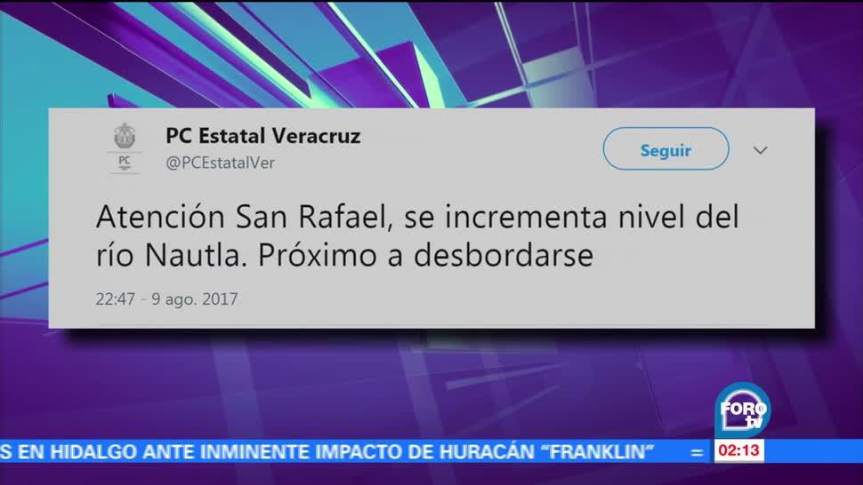 Alertan, incremento, río Nautla, Veracruz