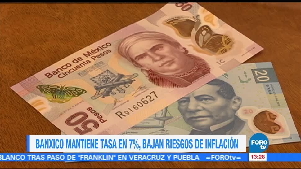 Banxico mantiene sin cambios tasa interés