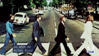 Foto Los Beatles Abbey Road cumple