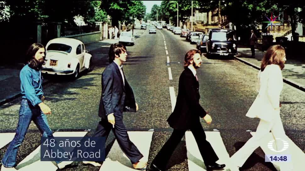 Foto Los Beatles Abbey Road cumple