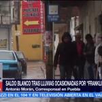 Continúan lluvias Puebla reportan saldo blanco