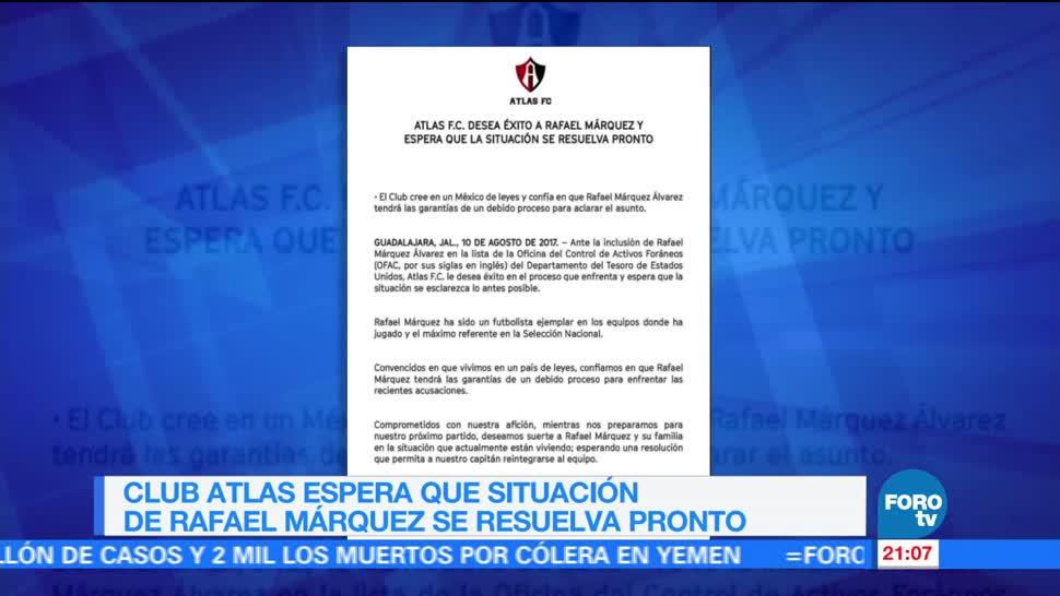 Club Atlas desea éxito a Rafael Márquez