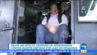 Dejan sin efecto órdenes de aprehensión contra Javier Duarte