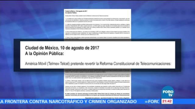 Desplegado de empresas de telefonía en México