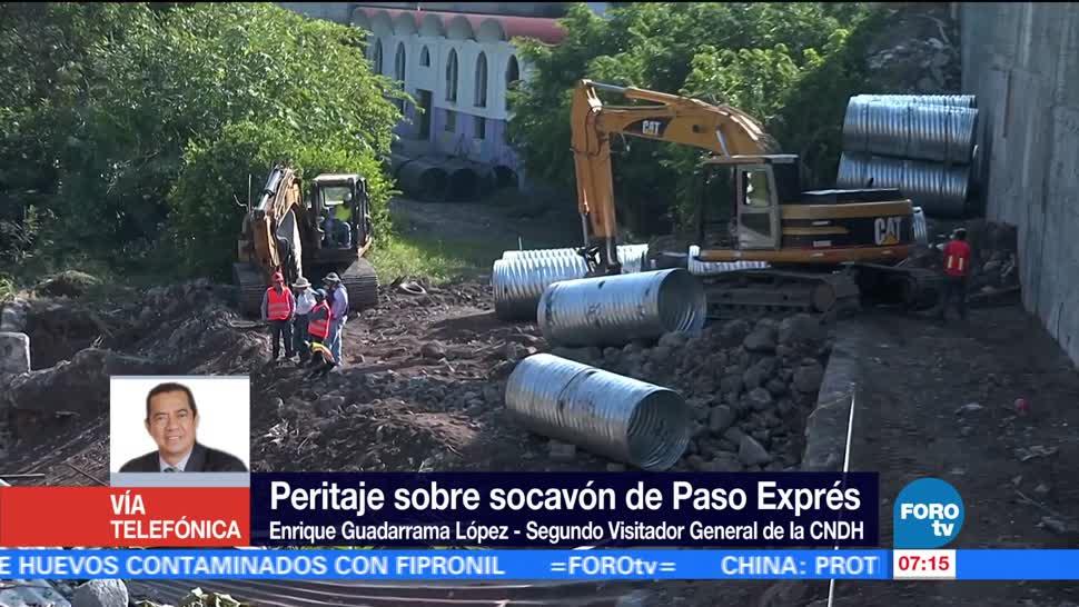 Peritaje socavón Paso Express de Cuernavaca