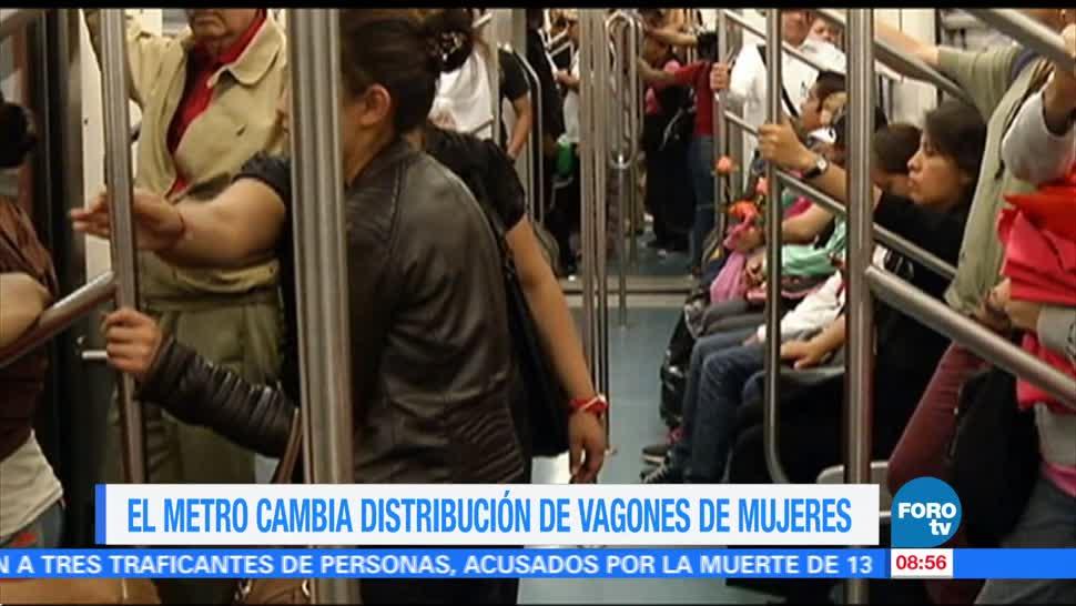 Metro cambia distribución vagones de mujeres