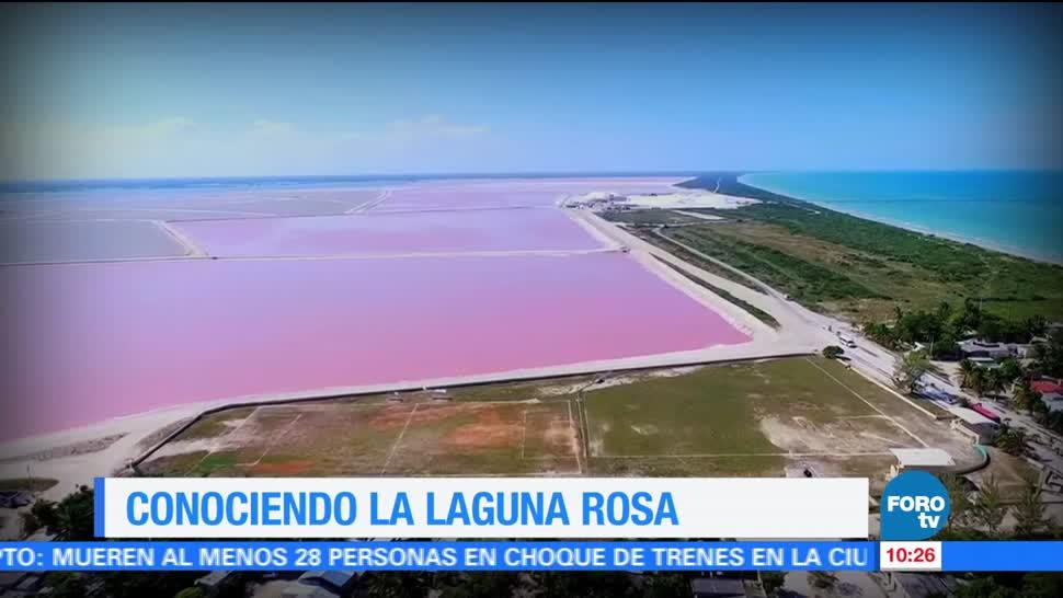 La laguna rosa en Yucatan México