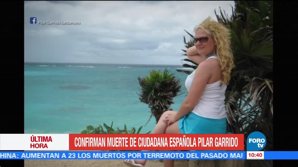 Confirman muerte ciudadana española Pilar Garrido
