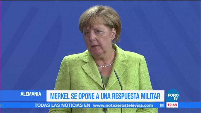 Merkel detener escalada verbal EU Norcorea