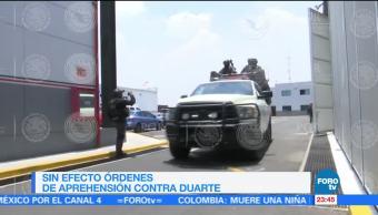 Suspenden Ordenes Aprehension Javier Duarte Seguira Prision