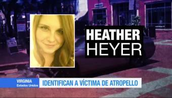 Identifican Victima Atropello Virginia Heather Heyer Charlottesville