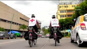 Cruz Roja, en bicicleta en Chiapas