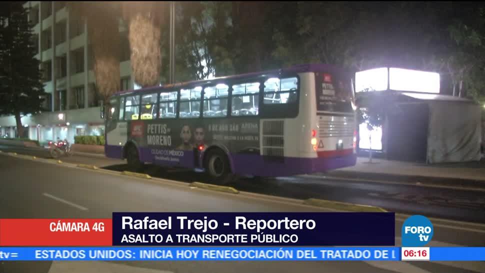 Asaltan, transporte, público, Chapultepec