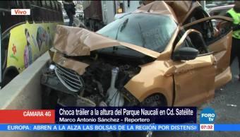 Choca Tráiler Vehículos Parque Naucalli