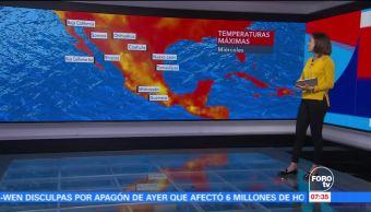 Onda tropical Canal Baja presión México