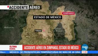 registra, accidente, aéreo, Zumpango