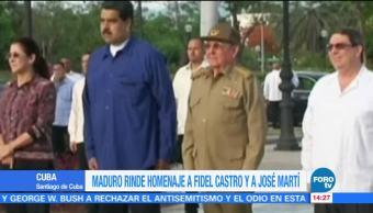 Maduro rinde homenaje a Fidel Castro