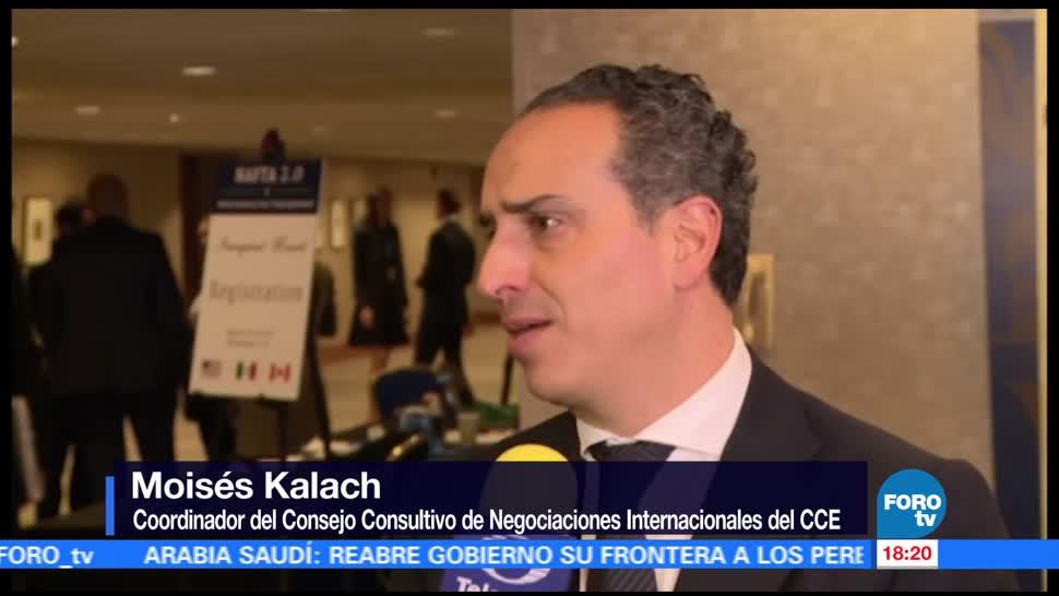 Que renegociación del TLCAN sea satisfactoria para México: Kalach