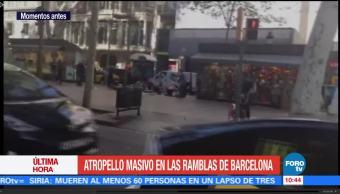 Momentos, terror, atropellamiento, Barcelona