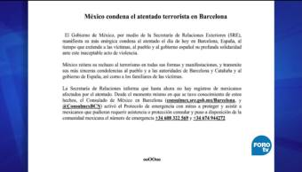 México, condena, atentado, terrorista