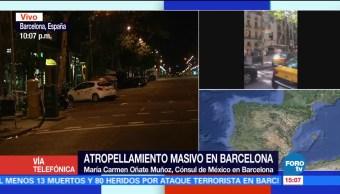 Confirma cónsul México no víctimas Barcelona
