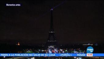 Apagan la Torre Eiffel en solidaridad por el atentado en Barcelona