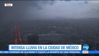 Se registra lluvia intensa y granizo en la CDMX