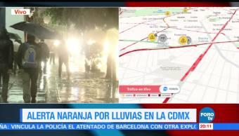 Se reportan 25 encharcamientos por lluvia en la CDMX